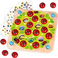 Nene Toys - Jeu Memory Jardin des Coccinelles - Jeu de mémoire éducatif en Bois pour Enfants de 3, 4 et 5 Ans - 10…