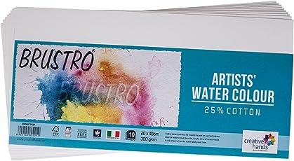 Brustro Watercolour Papers 25% Cotton 300 gsm (CP 20 X 40 CM)