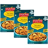 FAZLANI FOODS Ready to Eat Subz-E-Biryani (Mix Vegetable Biryani) Pack of 3, 250g   Tasty and Authentic Instant Food Meals  