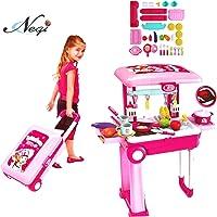 Negi 2 in 1 Brief Case Little Chef Kids Kitchen Play Set with Light & Sound Cooking Kitchen Set Play Toy (Little Chef…