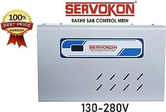 Servokon SK 413A Digital Voltage Stabilizer for 130-280V 1.5 Ton AC (Grey, BOM2310)