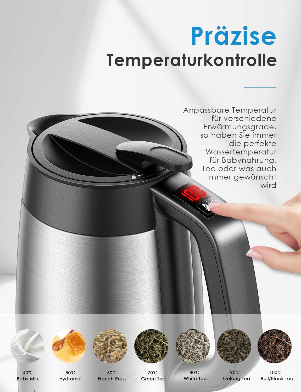 AICOK-Wasserkocher-Edelstahl-mit-Temperaturregler-Doppelwandiger-Wasserkessel-aus-Edelstahl-mit-Temperaturhaltefunktion-und-LED-Anzeige-2200W-17L-Automatische-Abschaltfunktion