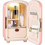 TELAM Mini Frigo Cosmétique Portable Mini Réfrigérateur Beauté Skincare Réfrigérateur De Stockage Cosmétique Réfrigérateur Pe