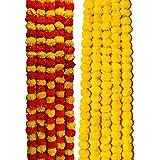 VRCT Artificial Marigold Flower Garlands ( 5 Feet Long , Multicolor)