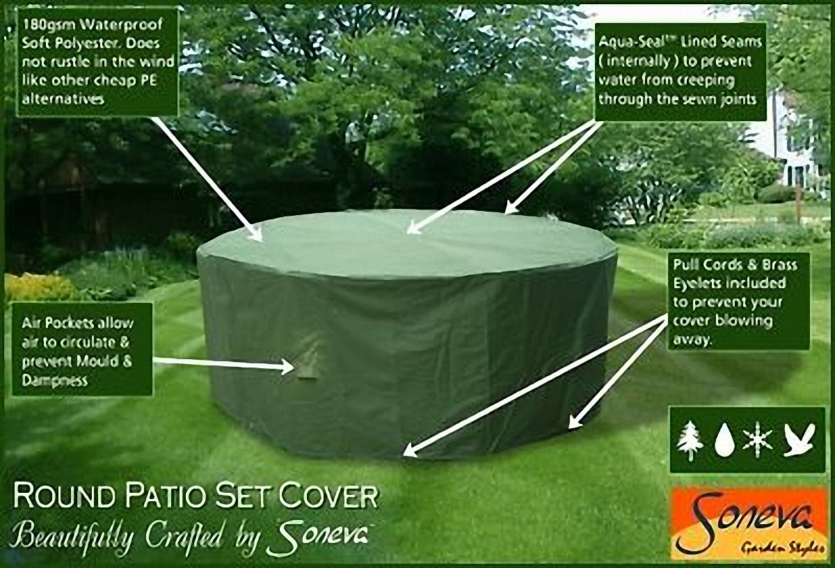 Large Round Patio Garden Table Set Polyester Cover 250 cm  Green   Weatherproof Patio  KC03  102500  Green  Amazon co uk  Garden   OutdoorsLarge Round Patio Garden Table Set Polyester Cover 250 cm  Green  . Round Patio Set Cover. Home Design Ideas