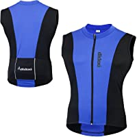 Didoo sleeveless cycling jersey men's Biking Top Vest with Full Zip Rear Pockets Breathable Reflective Racing