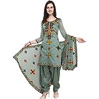 EthnicJunction Women Chanderi Cotton Un-stitched Salwar Kameez Dress Material