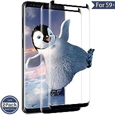 ONSON Galaxy S9 Panzerglas Schutzfolie, [2 Stück] Displayschutzfolie für Galaxy S9 Panzerfolie Displayschutz Gehärtetem Glass 9H Härtegrad, Anti-Kratzen, Einfaches Anbringen