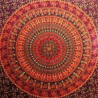 Camel Elephant Tapestry hippie tapestry mandala tapestry wall hanging wall decor home decor (Maroon)