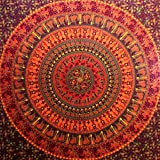 Camel Elephant Mandala Tapestry Hippie Tapestry Mandala Tapestry Wall Hanging Wall Decor Home Decor (Maroon)