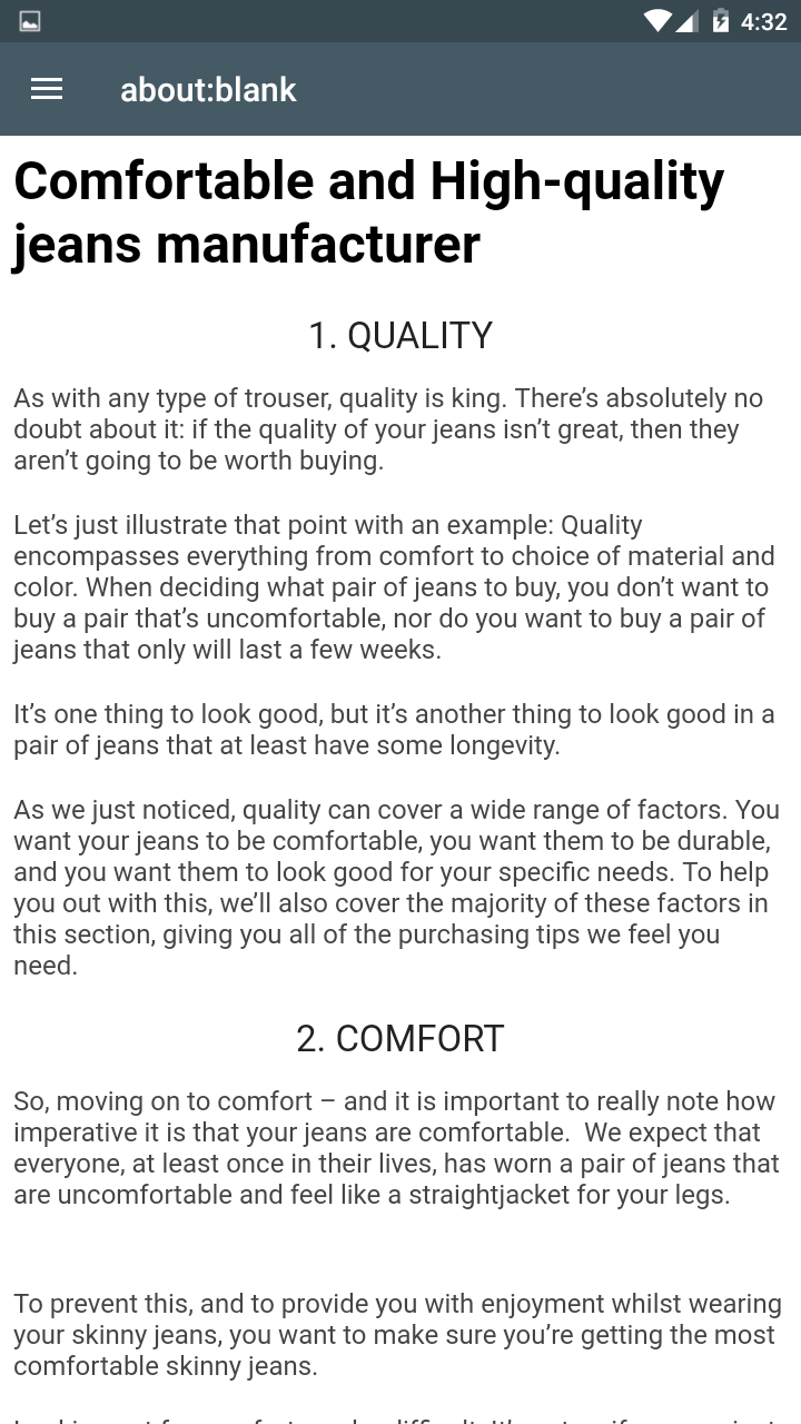 Zoom IMG-2 comfortable and high quality jeans