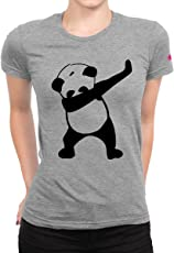 Graphic Printed T-Shirt for Women | Half Sleeve Women's T-Shirt | Dab Panda T-Shirt | Women's Top | Round Neck T Shirt | 100% Cotton T-Shirt