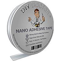 DIY Doctor - Ruban Adhésif Double Face Nano Technologie Multifonction – Ruban Adhésif Réutilisable Puissant – Ruban à…