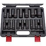 "US PRO B1340 - Set di 16 bussole per avvitatore a percussione, inserto da 1/2"", 10-32 mm"