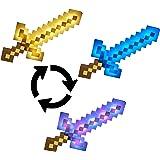 Minecraft- Spada da Combattimento Azionabile con Luci e Suoni, Grandezza Naturale, Giocattolo per Bambini 6+ Anni, FMD13