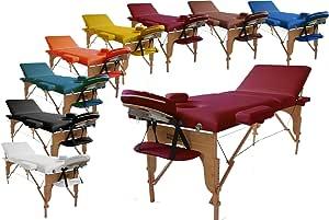 Promafit mobile profi Massageliege Lille 70 cm - burgund - klappbar - tragbar - aus Holz - bequeme Polsterung + Tragetasche