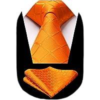 HISDERN Dai un'occhiata Cravatta da sposa Fazzoletto Cravatta da uomo & Pocket Square Set