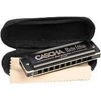 CASCHA Harmonica Blues Master Edition , harmonica de haute qualité en do majeur avec étui souple et chiffon de soin…