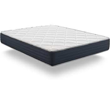 NATURALEX LITERIE Matelas Supervisco 140 x 190 cm en Mousse Latex Blue Latex® + mémoire de Forme Thermosoft® hypoallergénique à 7 Zones de Confort, Reversible Face ÉTÉ/Hiver épais 25 cm, Ferme
