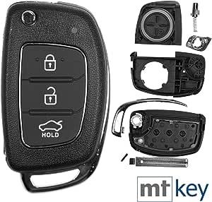 Auto Klapp Schlüssel Gehäuse 3 Tasten Für Hyundai I10 I20 Elantra I40 Sonata Ix25 Ix35 Tucson