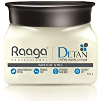 Raaga Professional De Tan With Kojic And Milk, 500g, White (RADETAN500G-1)