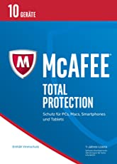 McAfee Total Protection 2017 10 Geräte [30 Tage Abonnement]