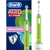 Oral-B Junior Kids Electric Rechargeable Toothbrush for Children Age 6-12, 1 Brush Handle and 1 Sensitive Toothbrush…