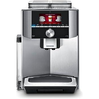 Siemens EQ.9 TI907501DE Kaffeeollautomat (1500 Watt, Genießerprofile, Display, Heißwasserfunktion, 19 bar) silber