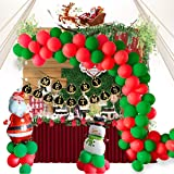 Ponacat Weihnachten Luftballons Party Supplies Frohe Weihnachten Latex Luftballons Set für Home Office Party Favor Decor