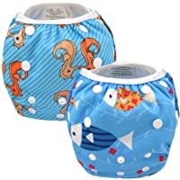 Alva Baby 2pcs Pack One Size Reuseable Washable Swim Diapers SW07-08