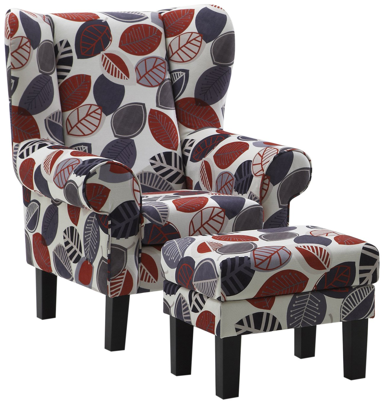 Ohrensessel mit hocker  Atlantic Home Collection JEFF Ohrensessel inklusive Hocker ...