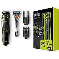 Braun BT3041 Barttrimmer und Haarschneider, 39 Längeneinstellungen, schwarz/grün