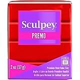 Premo Sculpey بوليمر طيني 59 جرامًا - كادميوم أحمر