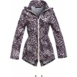 MyShoeStore Ladies Women Rain Mac Raincoat Showerproof Fishtail Cagoule Kagool Kagoul KAG Festival Parka Jacket Hooded Lightw