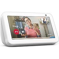 Nuovo Echo Show 5 (2ª generazione, modello 2021)   Schermo intelligente con Alexa e telecamera da 2 MP   Bianco ghiaccio