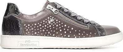 Nero Giardini A719230D Sneakers Donna in Pelle, Camoscio E Tela