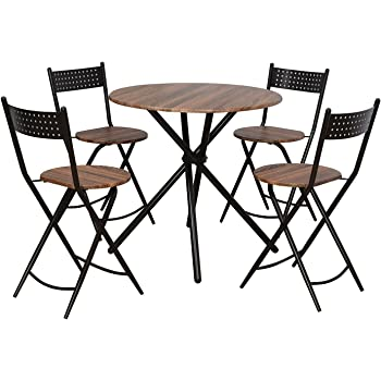 @home by Nilkamal Kai Four Seater Dining Table Set (Brown)