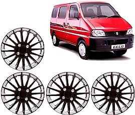 Autorepute 13-Inch Black And Silver Wheel Cover Cap For Maruti Suzuki Eeco (Set Of 4)