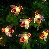 [50 LED] Solar Garden Lights, Honey Bee Fairy String Lights,7M/24Ft 8 Mode Waterproof Outdoor/Indoor Garden Lighting for…
