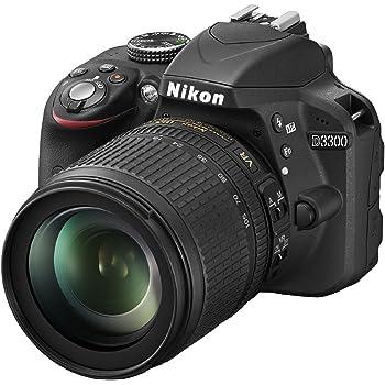 "Nikon D3300 Kit Fotocamera Reflex Digitale con Nikkor 18/105 VR, 24.2 Megapixel, LCD 3"", SD 8 GB 200x Premium Lexar, Nero [Nital card: 4 anni di garanzia]"