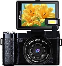 Digitalkamera Videokamera 1080p 24.0MP Camcorder HD Vlogging Kamera 3,0 Zoll Flip Screen Camcorder Kamera mit einziehbarer Taschenlampe