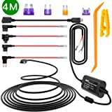 iiwey Dash Cam Hardwire Kit with Mini and Micro USB Plug, 4 Meters Dashboard Camera Car Charger Cable Kit 12V- 24V to 5V…