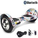 Cool&Fun Hover Board/Skateboard/Gyropode Éléctrique Auto-équilibrage Bluetooth Scooter Trottinette Électrique 10 Pouces,Pneu Gonflable