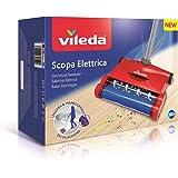 Vileda Scopa Elettrica Quick & Clean, Scopa Elettrica Senza Fili, con Vano Raccogli-Sporco, Leggera e Snodabile, Adatta a Tut