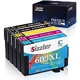 Sizzler 5Pezzi 603XL Cartucce Compatibili Epson 603 XL per Epson XP-3100 XP-4100 XP-2100 XP-2105 XP-3105 XP-4105 WF-2810 WF-2