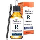 100 ml, FLORENCE Aceite de ricino orgánico, prensado en frío, puro - Estimula y fortalece el crecimiento del cabello, barba,