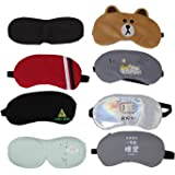 Tootpado Soft Sleeping Eye Mask Travel Accessories for Men & Women - (Pack of 2) Multicolor (6LNT613)(Design May Vary)