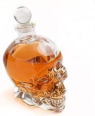 Geekmonkey Skull Decanter - 550 ml Crystal Skull Head Vodka Whiskey Bottle Drinking Home Bar Decanter(1 pc)