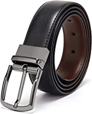 KAEZRI Reversible PU-Leather Formal Black/Brown Belt For Men(Color-Black/Brown)
