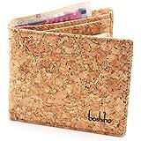 Boshiho Cork Wallet, RFID Blocking Vegans Wallet for Men & Women Slim Design Bifold Purse with Coin Pocket Card Slots Eco Fri